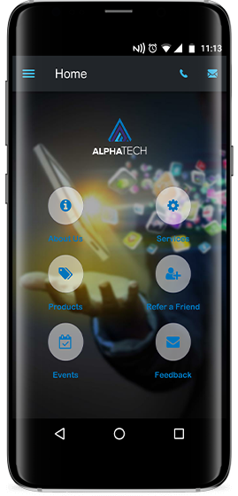 AlphaTech - app screenshot