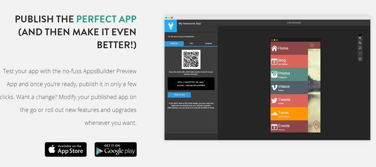 AppsBuilder screenshot