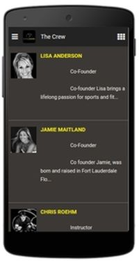 CycleWard App - the Crew page