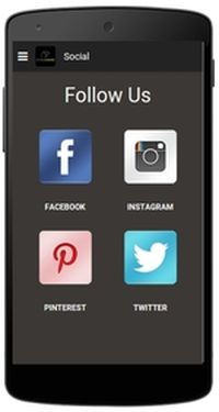CycleWard App: Follow Us page