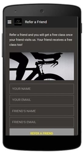CycleWard App - Refer a Friend page