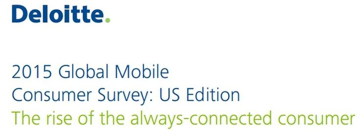 Deloitte publishes 2015 Global Mobile Consumer Survey. Cover screenshot