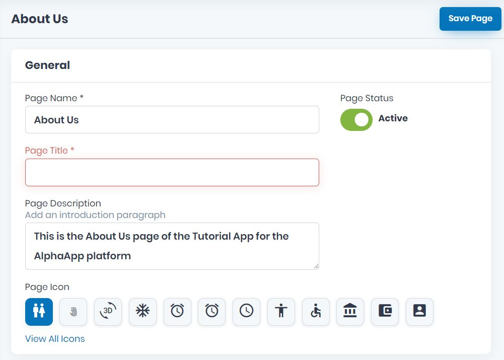How to Create the About Us Page for your App