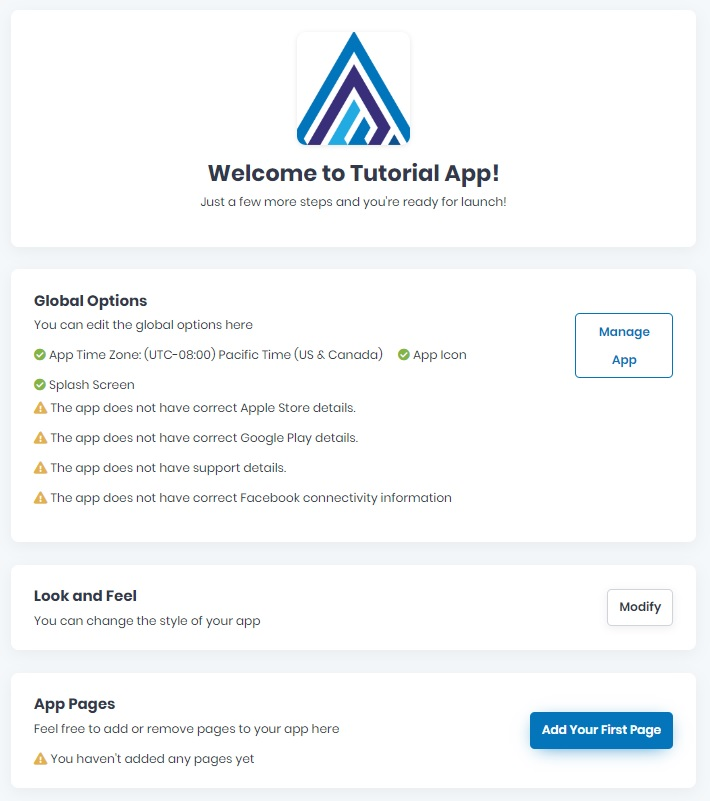 Build a new app - Step 5
