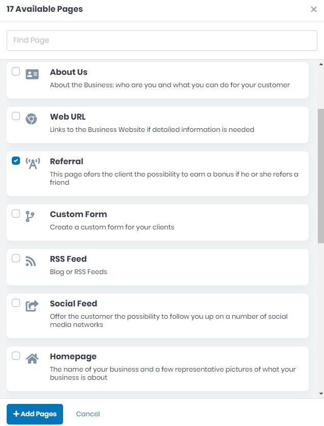 How to Create the Referral Page for your App