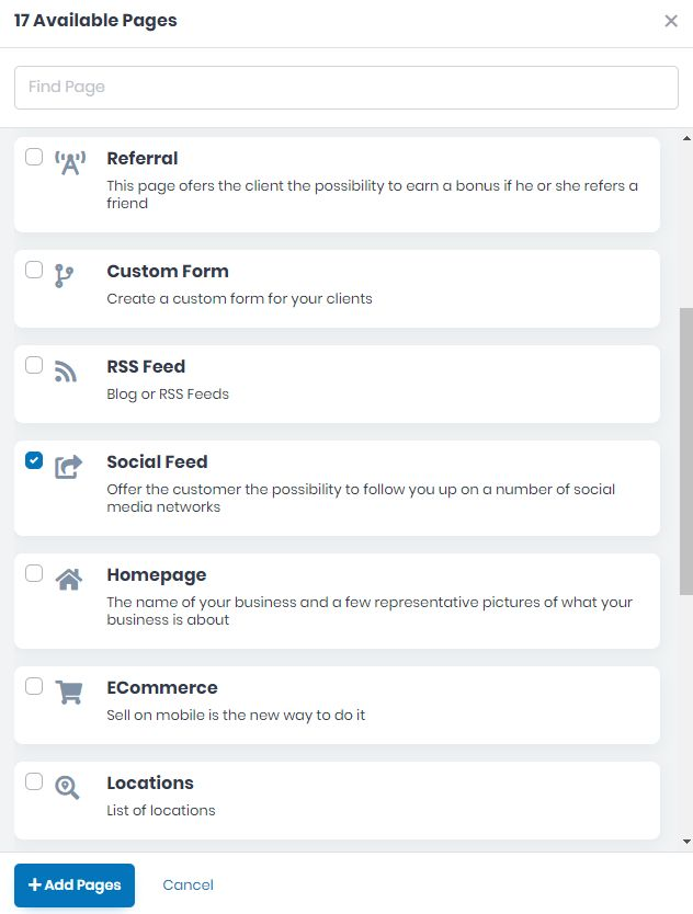 How to Create the Social Feed Page for your App