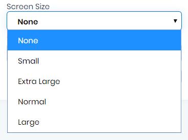 Screen Size in Dev Studio AlphaApp Platform