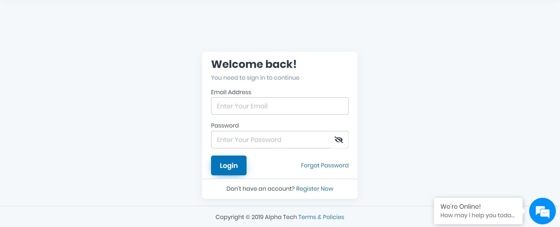 How to Login to AlphaApp