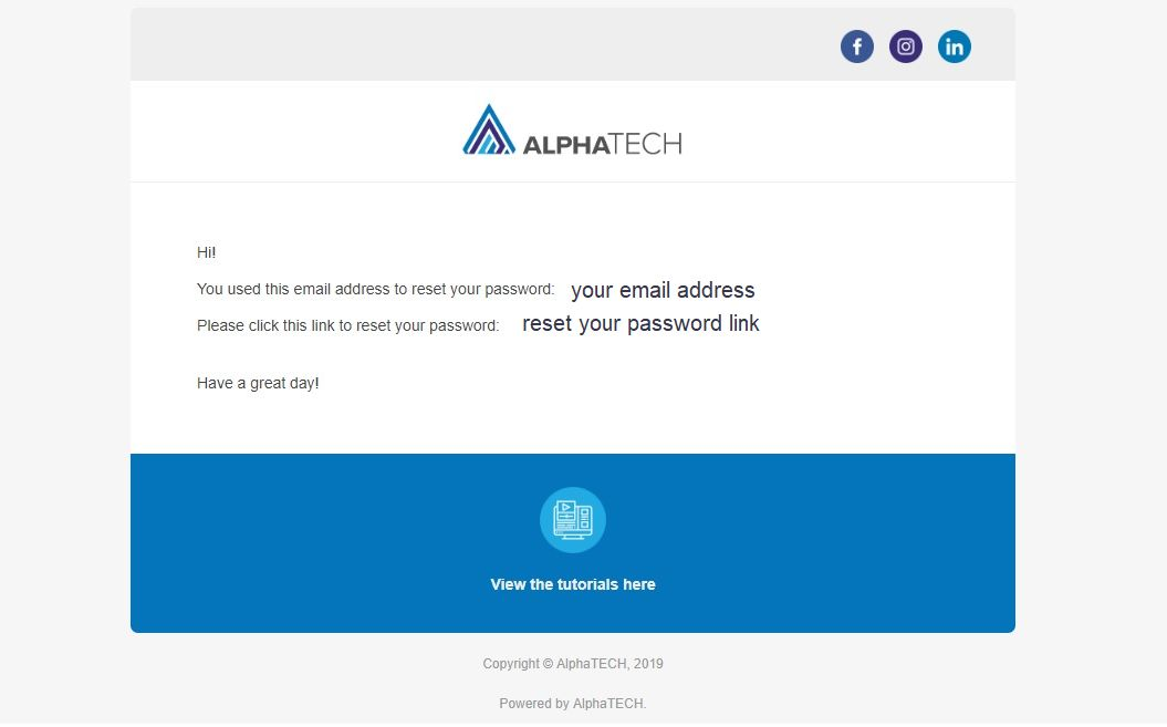 How to Reset your AlphaApp Password
