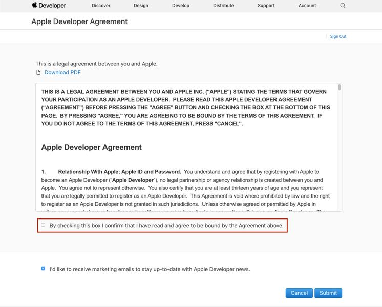 Creating an iOS Developer Account - Step 2