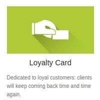 Loyalty Card feature: easiest way to build a loyalty program with no additional costs