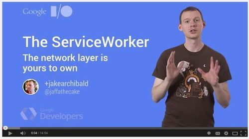 Screenshot from Jake Archibald's video explaining ServiceWorker