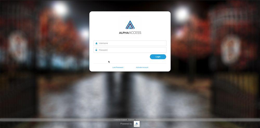 Setting up AlphaAccess - Step 1