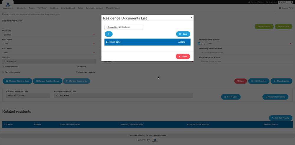 Setting up AlphaAccess - Document sharing