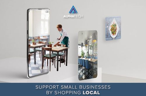 Support small businesses by shopping local © AlphaTech