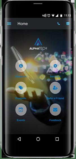 AlphaTech - app screenshot