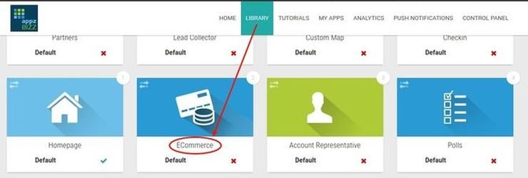 Adding E-commerce to any business app on our platform is just one click away