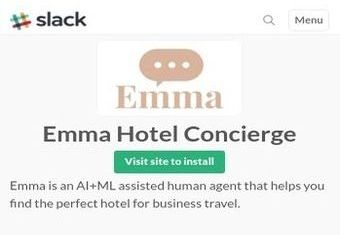 Emma Hotel Concierge - an example of Slack's approach to chatbots