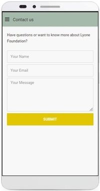 Lyone Foundation App, Contact us page
